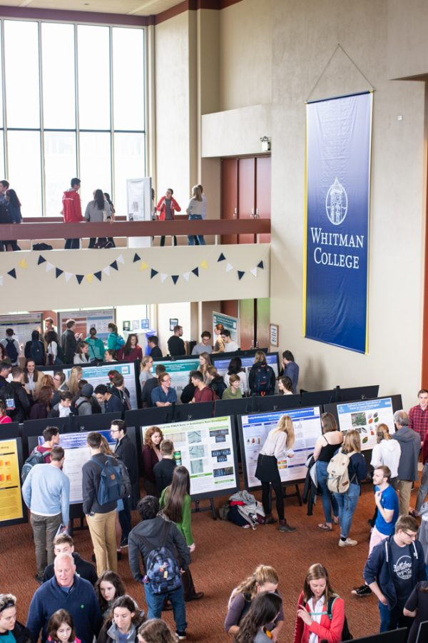 Poster session at the Whitman Undergraduate Conference