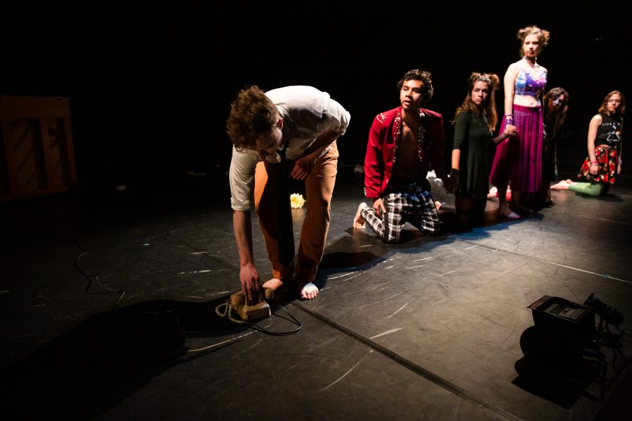 Many of the choreographies were based on collaboration between between student performers and dance faculty.
