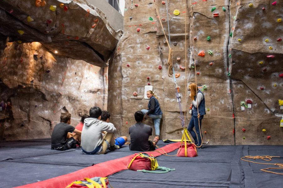 Rock climbing ascends on campus