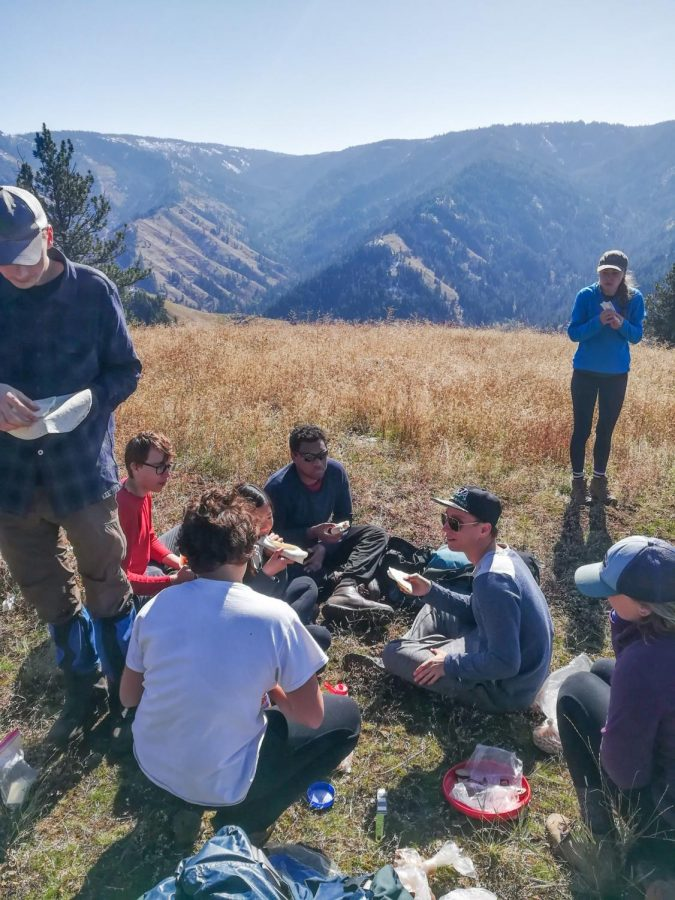 Whitman students enjoy the outdoors during an Outdoor Program trip on Thursday, Oct. 10, led by juniors Adam Rooney and Erin Beaudoin. Photos contributed by Adam Rooney and Sam Cleary