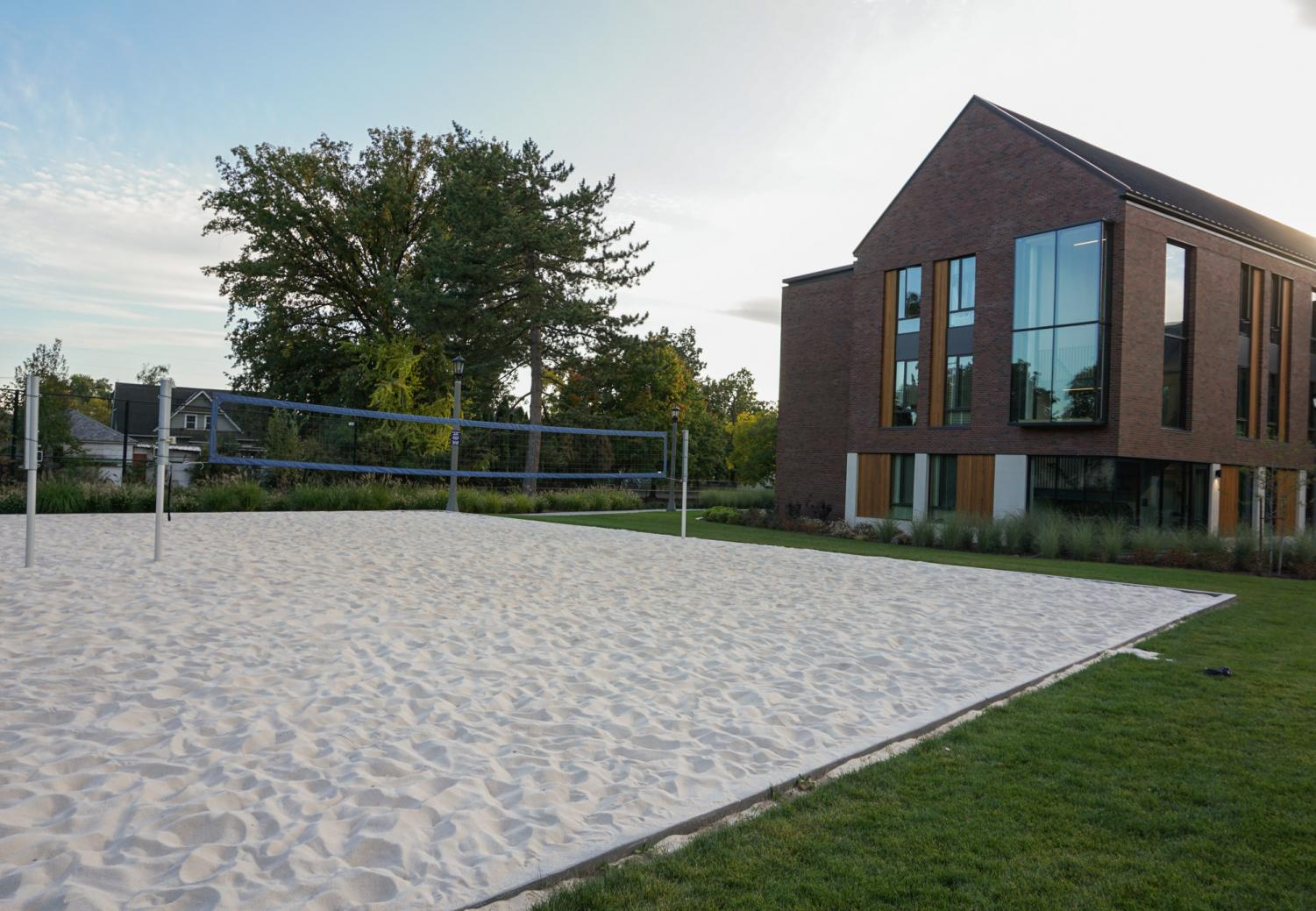 Many athletic classes and teams have begun to utilize Whitman's new sand volleyball court in a edition to Ankeny 2.
