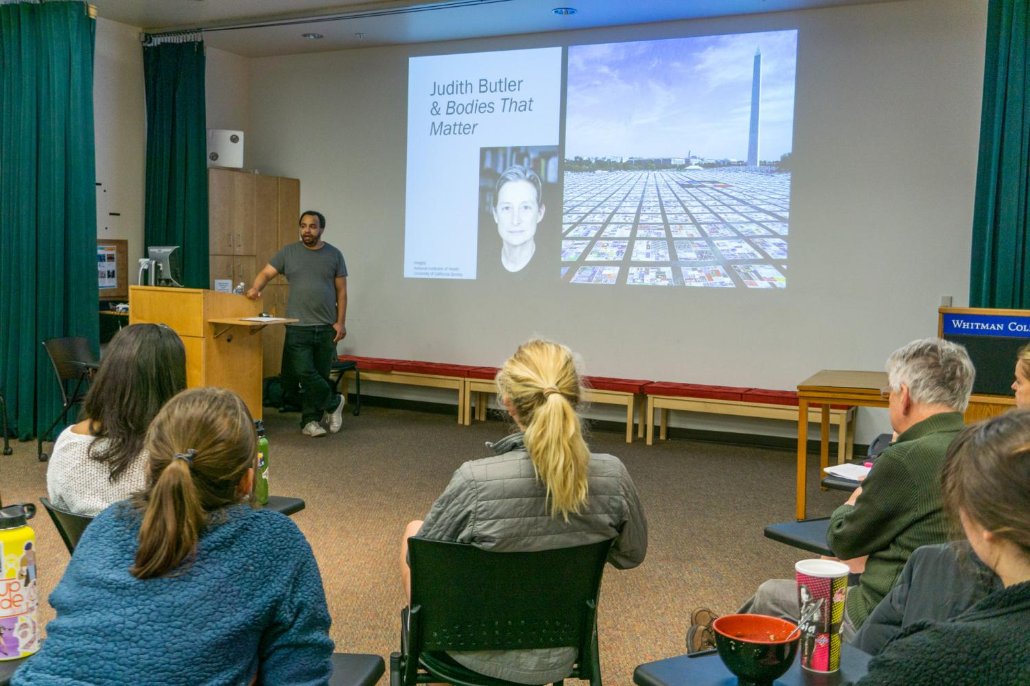 Dr. James Garrison graduated from Whitman in 2004 and returned this past week to speak to the community about the meaning of the black body in our current sociopolitical climate.