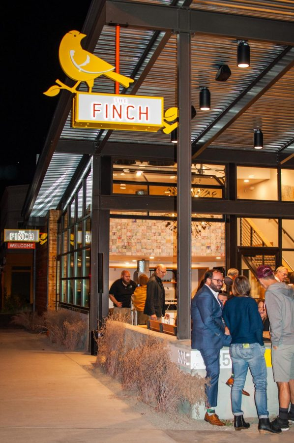 The FINCH hotel opening featured a live painting event featuring Whitman student artists