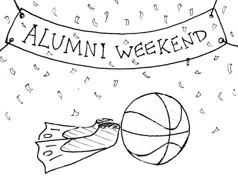 Basketball and swim teams host alumni events to kick off season