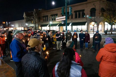 Whitman and Walla Walla community members gathered on the corner of 1st and Main at 6:30 p.m. on Nov. 12, a time and place specifically chosen to be accessible to working members of the community, including the immigrant population.