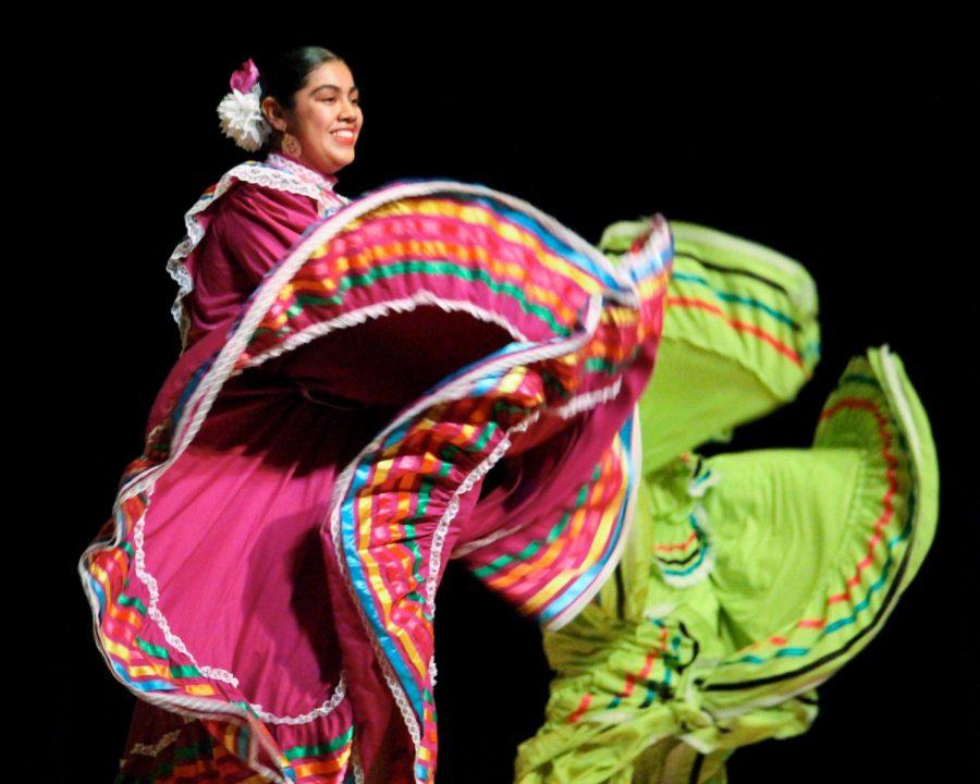 Ballet Folklorico Estrellas de Mexico, a Mexican folk dance group, performs at the event.