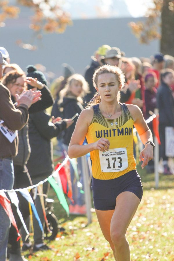 Senior cross country runner Whitman Rich competes in the NCAA Division 3 Championship Race. Photo contributed by Whitney Rich
