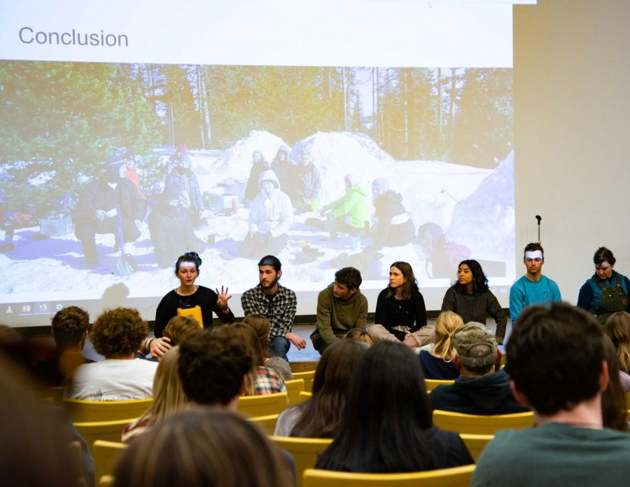 Students participate in a workshop at P&P, engaging in conversation about accessibility within outdoor recreation and the Outdoor Program. Photos by Thomas Lemoine