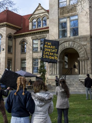 """""""Budgets are statements of values"""": Whitman community continues to protest the FSR"""
