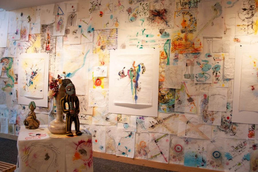 """""""Word II: Ars Poetica"""" exhibit explores color and letting go in the Stevens Gallery"""