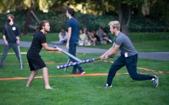 For cake and honor: Renfaire Club hosts foam sword-fighting tournament
